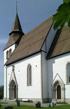 Hörsne Church - Image: Hoersne kyrka Gotland torn 1