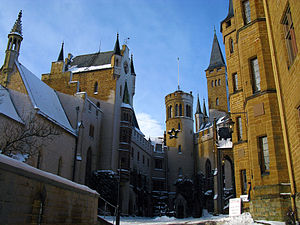 Hohenzollern Castle - The central courtyard