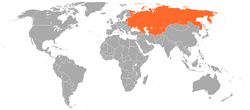 Map indicating locations of Holy See and Soviet Union