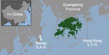 Location of Hong Kong within China