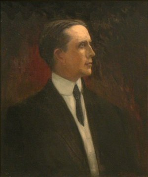 Ben W. Hooper - Portrait of Governor Hooper by Willie Betty Newman.