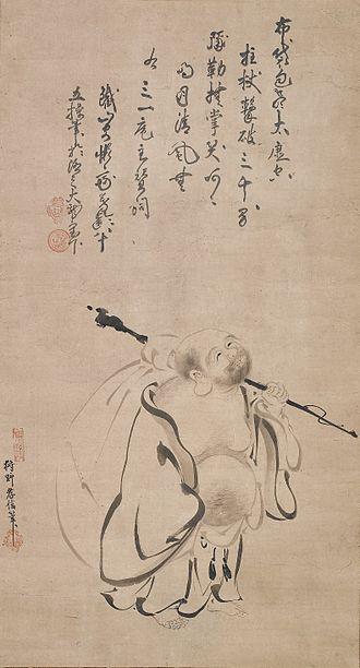 Kanō Takanobu - Image: Hotei by Kano Takanobu, 1616, Metropolitan Museum of Art, 2006.115