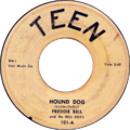 Hound Dog by Freddie Bell and the Bellboys (US 45RPM vinyl).png