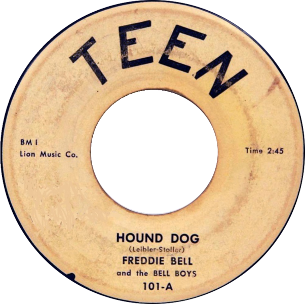 File:Hound Dog by Freddie Bell and the Bellboys (US 45RPM vinyl).png