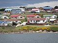 Houses possibly painted when paint ship capsized starting tradition of colorful roofs Stanley Falkland Islands.jpg