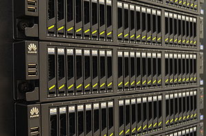 RAID - Storage servers with 24 hard disk drives and built-in hardware RAID controllers supporting various RAID levels