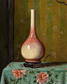 Hubert Vos's painting 'Pink and Green Vase'.jpg