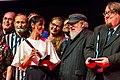 Hugo Award presenters at the Hugo Award Ceremony, at Worldcon 75 in Helsinki 2017.jpg