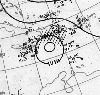 1928 Atlantic hurricane season - Image: Hurricane Two Analysis 10 Aug 1928