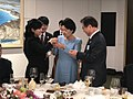 Hyon Song-wol talks with South Korea's First Lady Kim Jung-sook.jpg