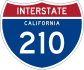 Interstate 210 marker