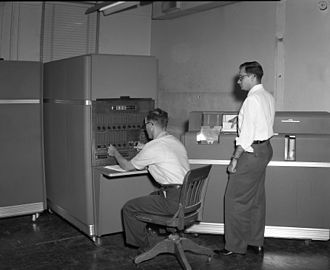 Punched card input/output - Image: IBM 650 at Texas A&M