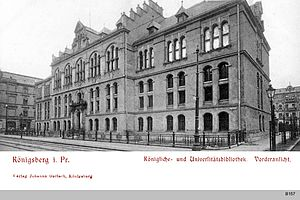 Königsberg State and University Library - The Royal and University Library in Mitteltragheim, ca. 1901