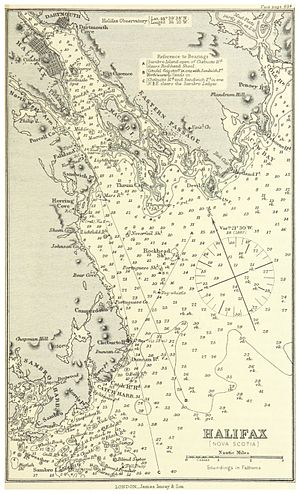 Halifax Harbour - Nautical chart of Halifax Harbour in the 1880s