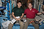 ISS-54 Norishige Kanai and Scott Tingle inside the Destiny lab.jpg