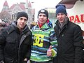 Ice hockey team Jokerit's former players Teuvo Teravainen & Esa Lindell with Don Bigileone (12974816435).jpg