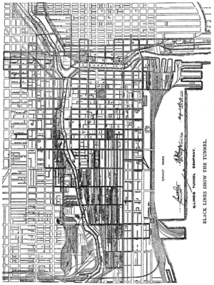 Chicago Underground Tunnels Map Chicago Tunnel Company   Wikipedia