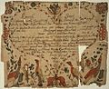 Illustrated family record (Fraktur) found in Revolutionary War Pension and Bounty-Land-Warrant Application File... - NARA - 300206.jpg