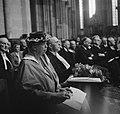 In aanwezigheid van de koninklijke familie krijgt Eleanor Roosevelt een ere-doct, Bestanddeelnr 934-6818.jpg