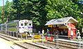 Inbound train at outbound track Wallingford SEPTA station.jpg