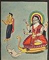 India, Calcutta, Kalighat painting, 19th century - The Goddess Ganga - 2003.127 - Cleveland Museum of Art.jpg