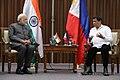 Indian Prime Minister Narendra Modi and Philippines President Rodrigo Roa Duterte meeting in Manila, 2017 (8).jpg