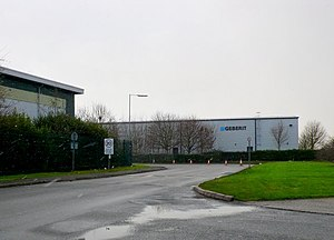 Wellesbourne - The main entrance to the industrial estate