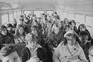 Desegregation busing Effort to diversify the racial make-up of schools in the United States