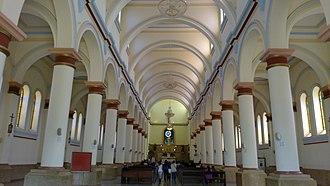 Junín, Cundinamarca - Image: Interior Iglesia de Junin Cundinamarca