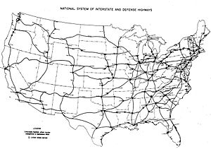 Interstate 80 in Pennsylvania - Image: Interstate Highway plan September 1955