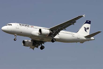 An Iran Air Airbus A320 Approaching Shiraz International Airport (2011) - Shiraz
