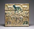 Iranian - Kashan Ware Tile with Figures and Animals - Walters 481296.jpg