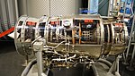 Ishikawajima-Harima F3-IHI-30 turbofan engine(cutaway model) left side view at Hamamatsu Air Base Publication Center November 24, 2014.jpg