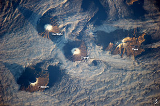 Islands of Four Mountains - Islands of the Four Mountains, from ISS