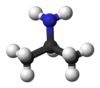Ball and stick model of isopropylamine