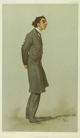 """Israel Zangwill - """"A Child of the Ghetto"""" Zangwill as caricatured by Walter Sickert in Vanity Fair, February 1897."""