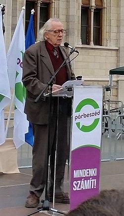 Bibó István a PM gyűlésén, 2016. október 2.