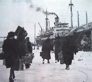Istrian-Dalmatian exodus - Italians leave Pula, 1947