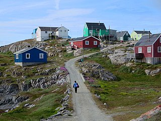 Itilleq Place in Greenland, Kingdom of Denmark