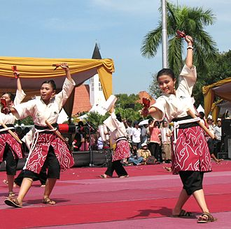 Sepuluh Nopember Institute of Technology - Yosakoi dance, performed by ITS's team in Surabaya, during a Surabaya and Kōchi sister-cities celebration