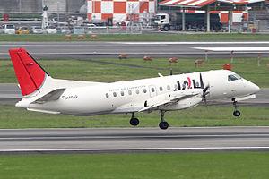 Japan Air Commuter - A Japan Air Commuter Saab 340 departs Osaka International Airport, Japan (2010).