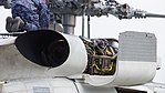JMSDF SH-60J(8265) T700-IHI-401C turboshaft engine exhaust nozzle right rear view at Tokushima Air Base September 30, 2017.jpg