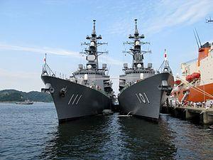 JS Ōnami (DD-111) and JS Murasame (DD-101) at Yokosuka, -1 Aug. 2009 a.jpg