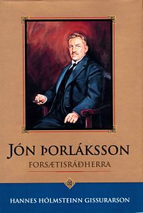 Cover of Gissurarson's biography of Prime Minister Jón Þorláksson (1992)