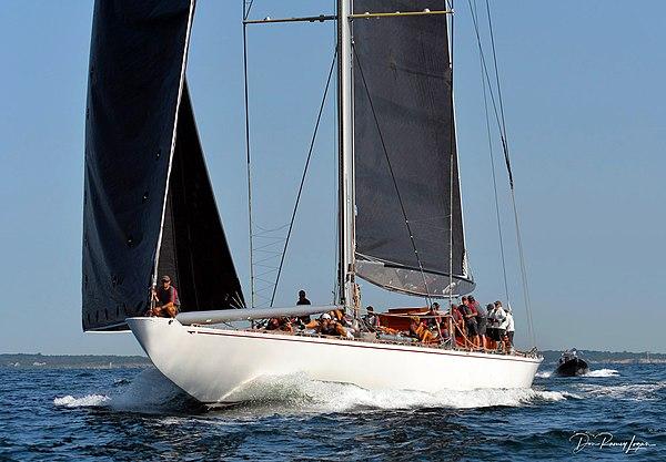 "J class yacht ""Ranger"" in Newport RI"