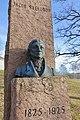 Jacob Sverdrup Monument (bust by Gustav Lærum) at Melsom Videregående skole, Melsomvik, Tønsberg, Norway. 2019-03-25 C.jpg