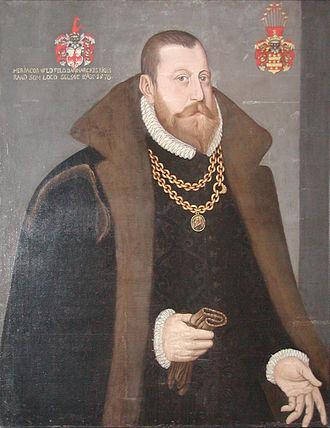 Jacob Ulfeldt (1535–1593) - Image: Jacob Ulfeldt til Selsø