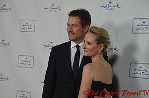 Anne Heche - Heche with James Tupper in November 2014