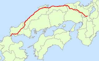 Japan National Route 9 highway in Japan