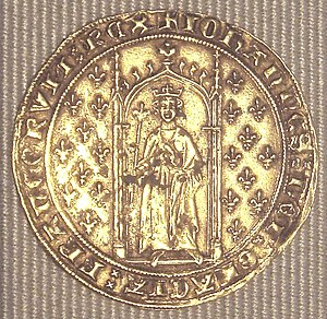 John II of France - A denier d'or aux fleurs de lys from John's reign (1351)